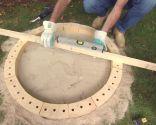 Hacer una barbacoa circular de exterior
