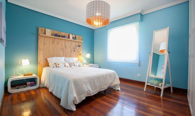 Dormitorio de matrimonio azul y blanco - Decogarden