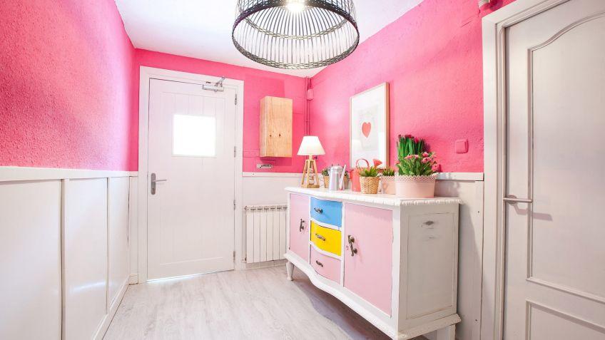 decorar un recibidor rosa y luminoso decogarden - Decorar Un Recibidor