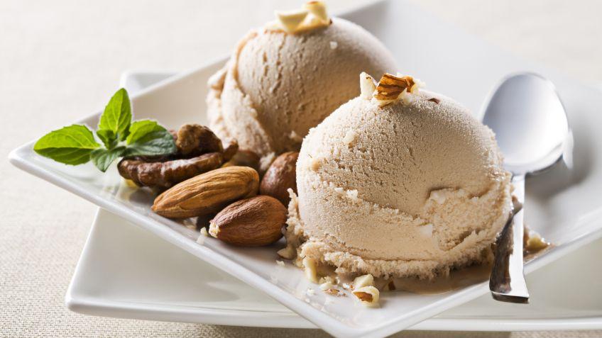 receta de helado de almendras