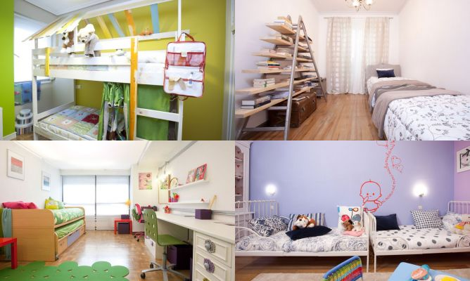 Ideas para decorar dormitorios para compartir hogarmania for Programa para disenar cuartos