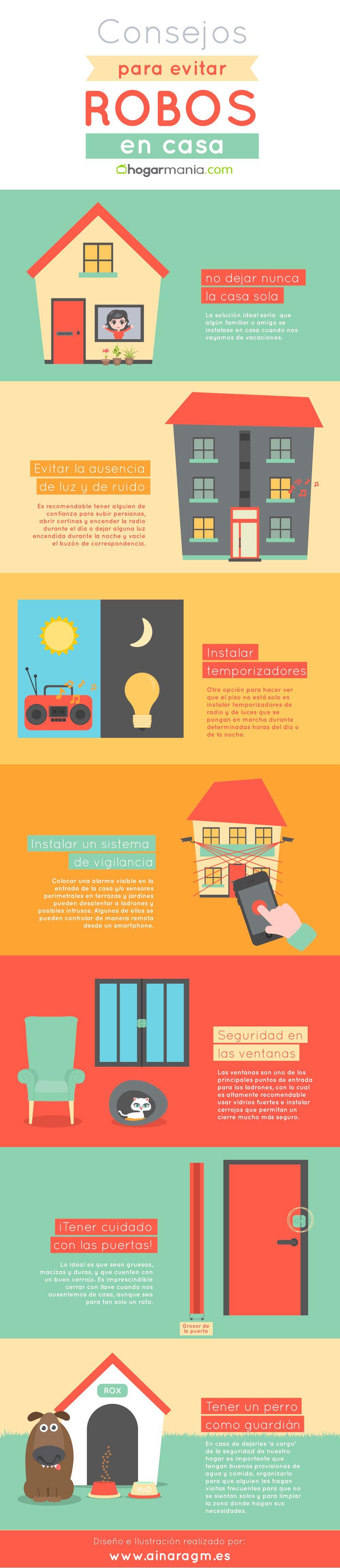 infografia evitar robos casa vacaciones
