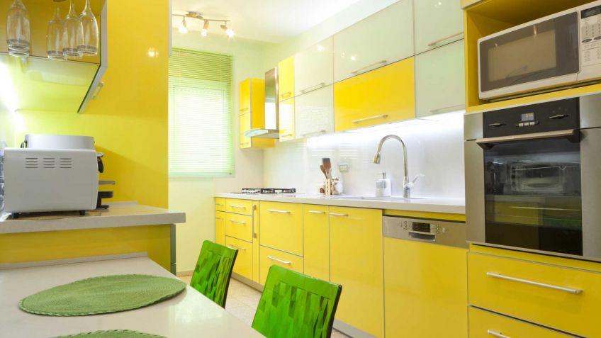 Cocina de color amarilla - Hogarmania