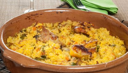 Receta de Arroz con pollo y panceta - Karlos Arguiñano