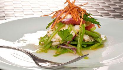 Receta de jud as verdes con patatas y mahonesa de ajo y - Ensalada de judias verdes arguinano ...