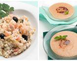 Ensalada de arroz con pavo y setas