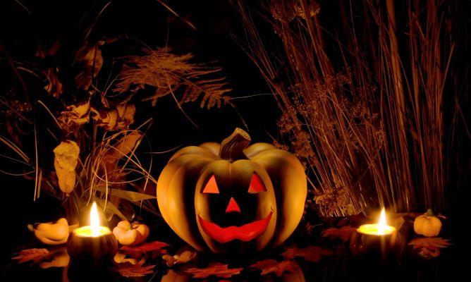 calabazas con velas para halloween hogarmania. Black Bedroom Furniture Sets. Home Design Ideas