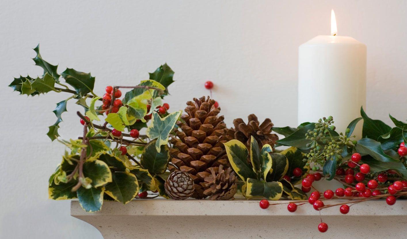 Decoraci n de navidad con pi as secas hogarmania for Centros navidenos