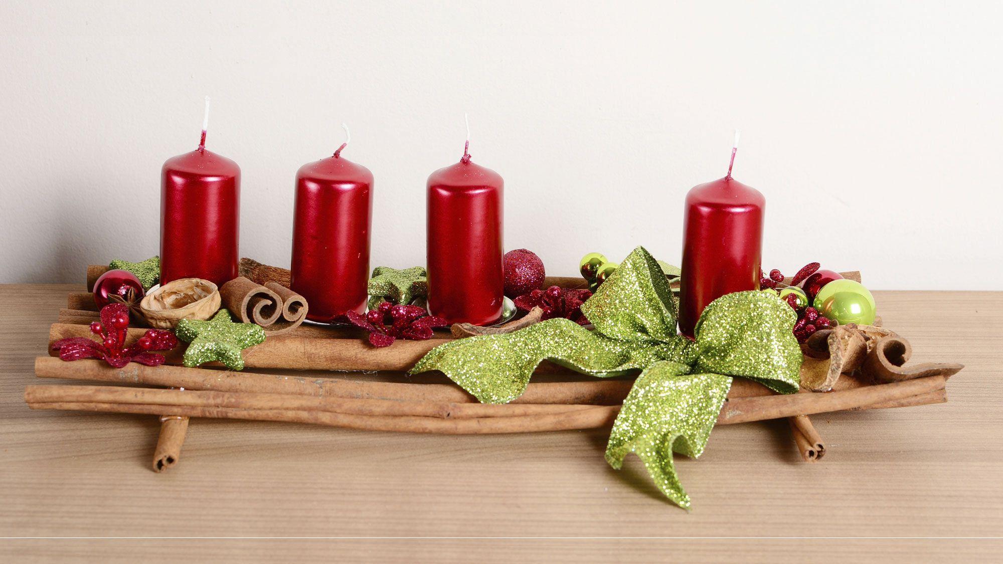 Centros de mesa navide os para mesas rectangulares - Centro de navidad con velas ...