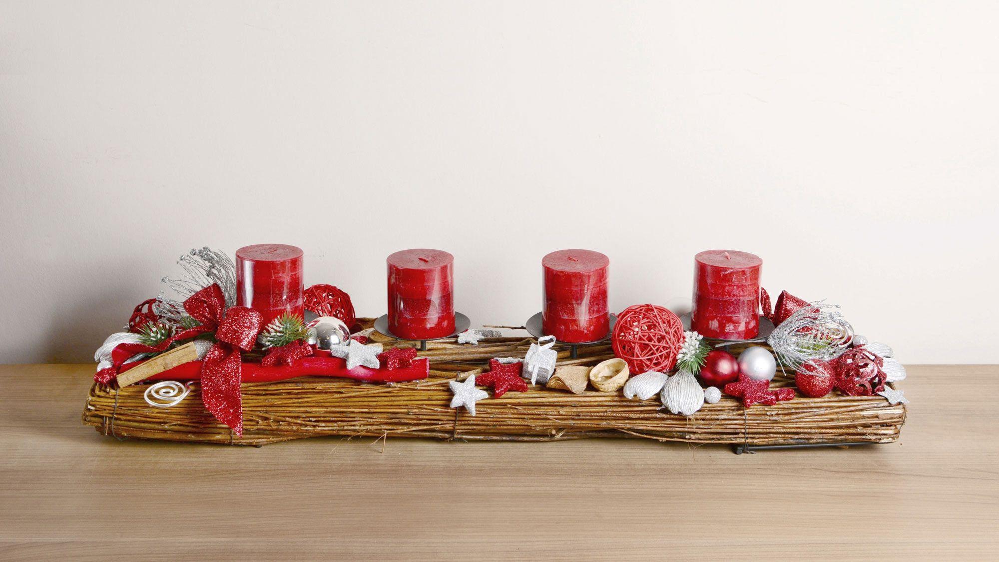 Centros de mesa navideños para mesas rectangulares