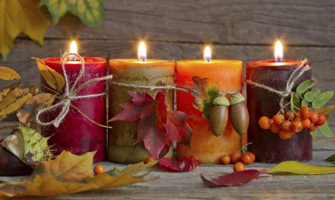 Decoración de otoño: velas - Hogarmania