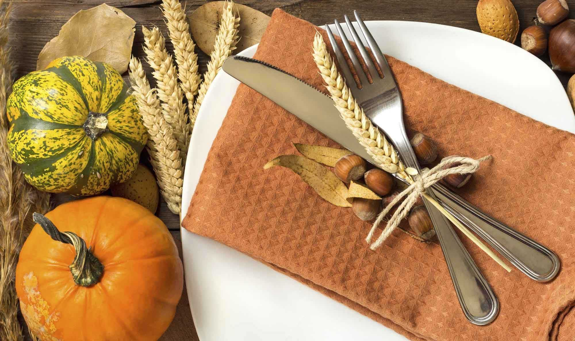 Decoración de otoño para la mesa - Colores