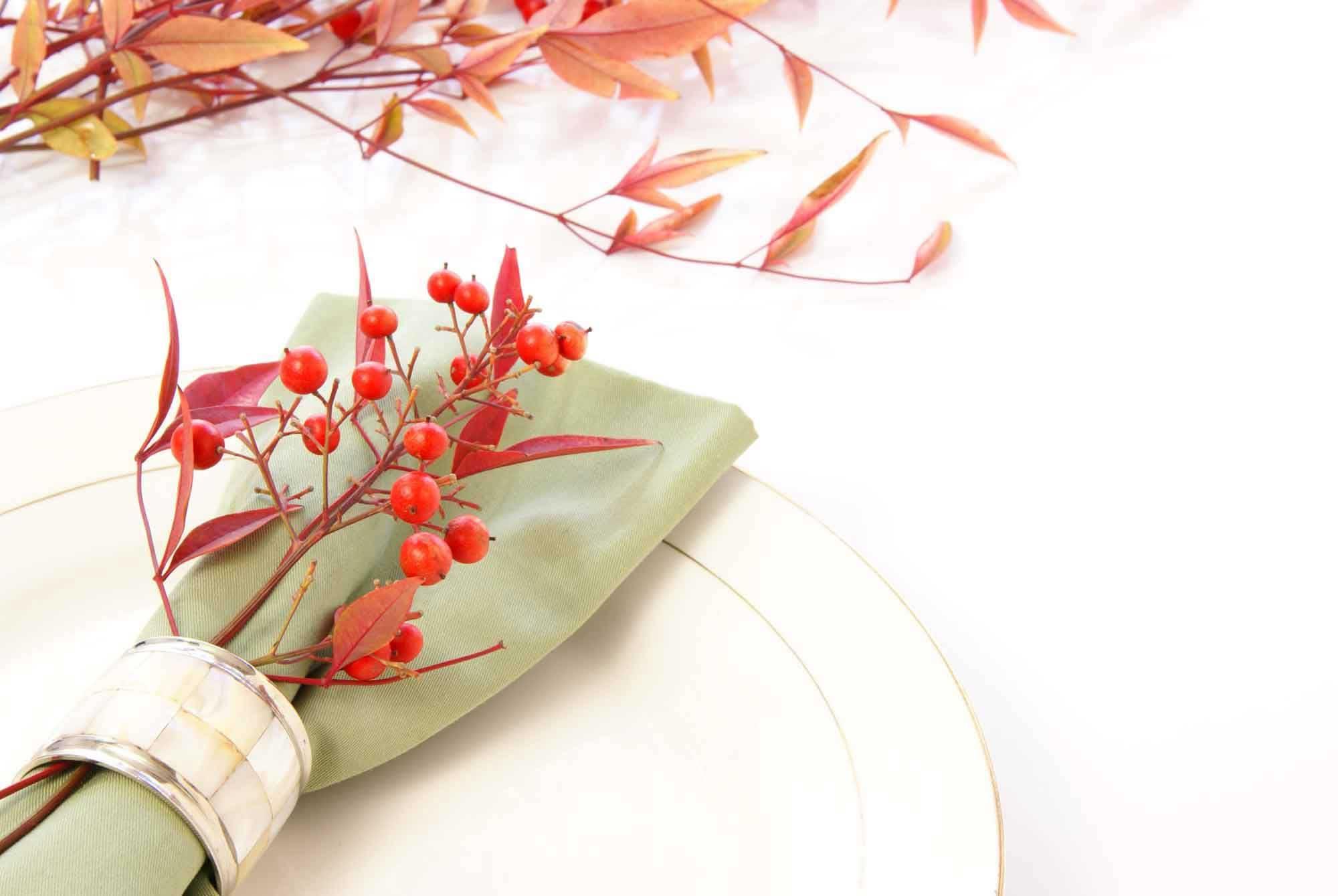 Decoración de otoño para la mesa - Bayas