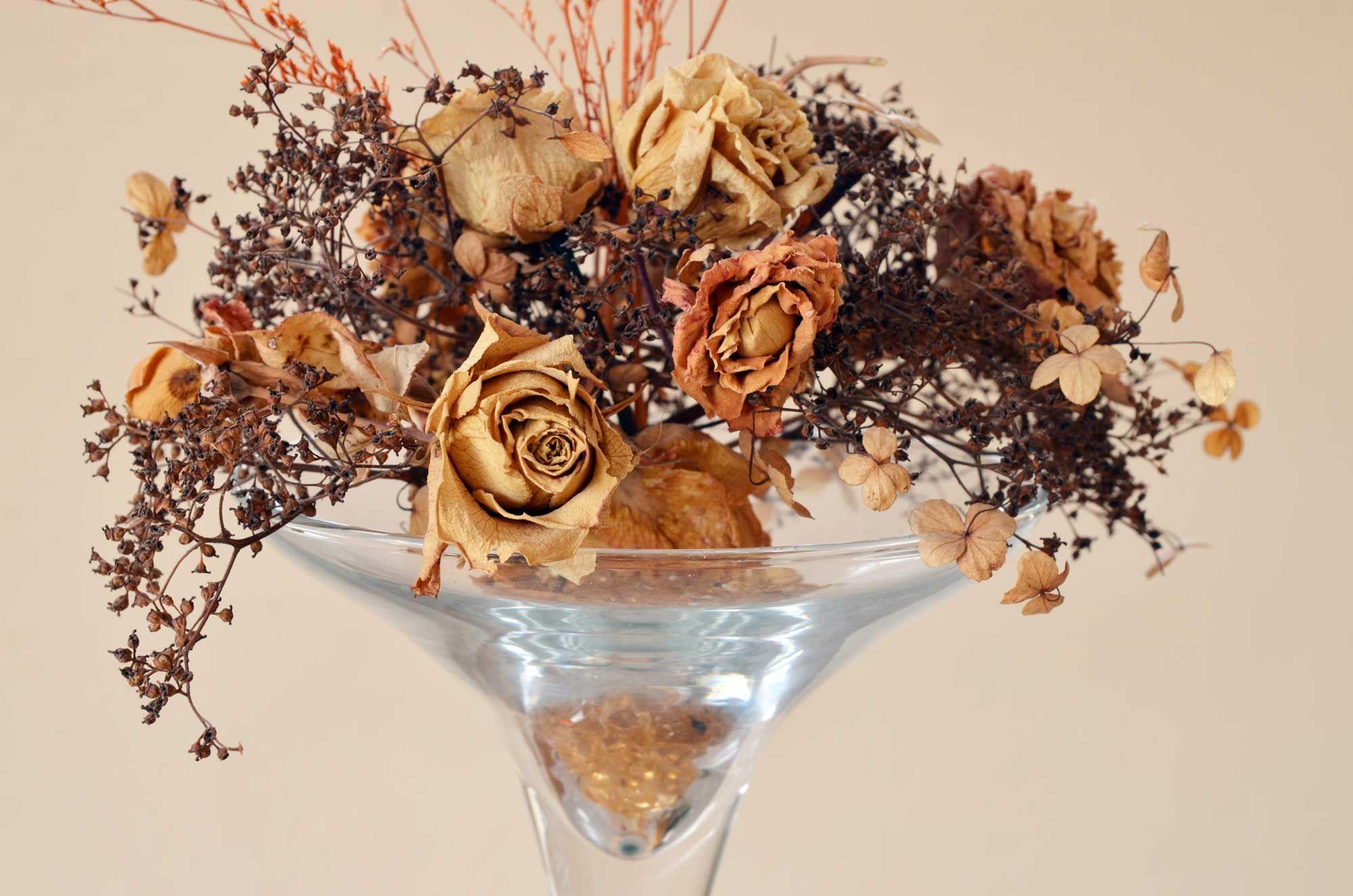 Flores en tonos marrones para otoño