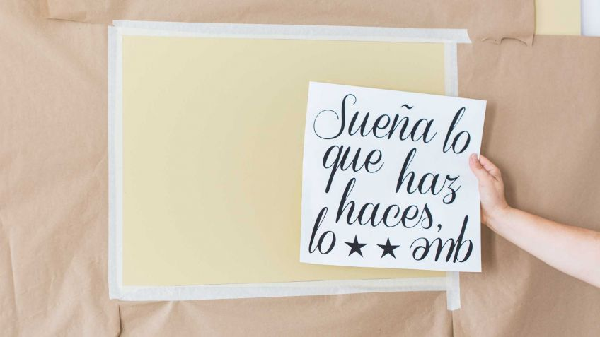 Decorar pared con pintura y stickers - Paso 1