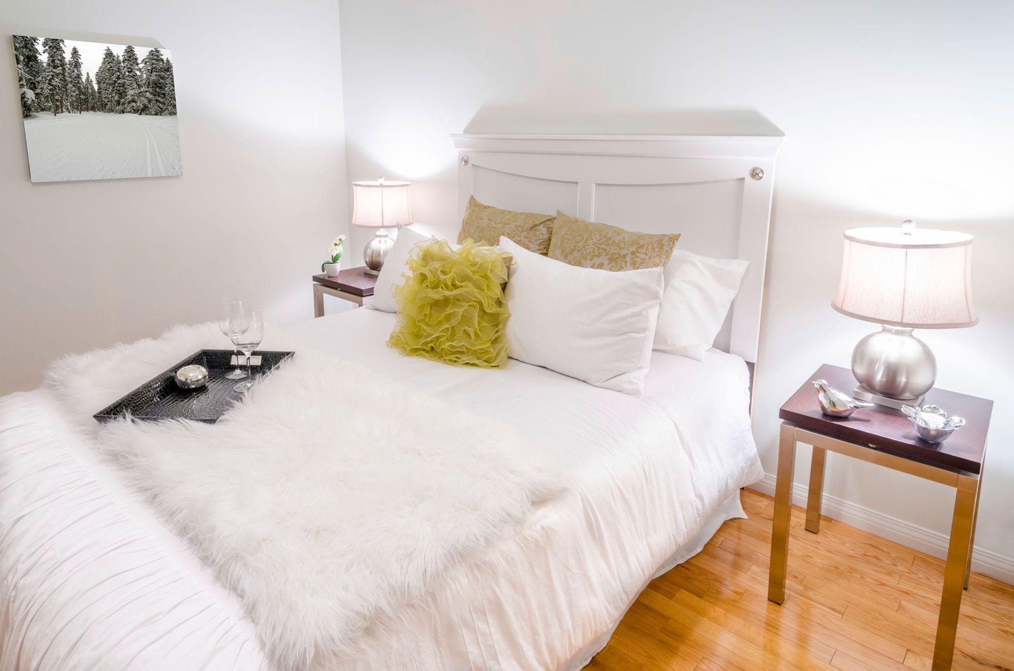 Dormitorio elegante de color blanco