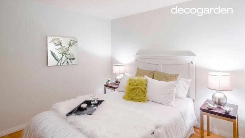 Dormitorio elegante de color blanco - Hogarmania
