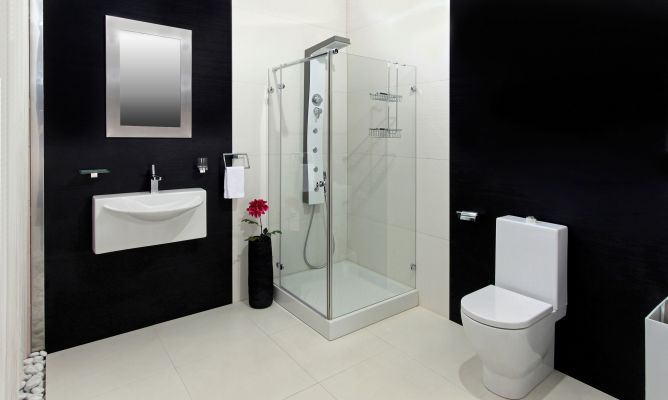 Ideas para decorar el baño en color negro