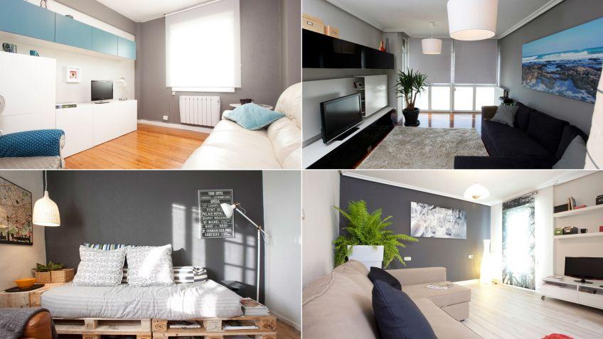 Ideas para decorar el salón en gris