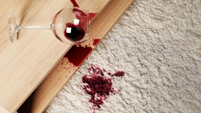 Limpiar manchas de vino de la alfombra - Hogarmania