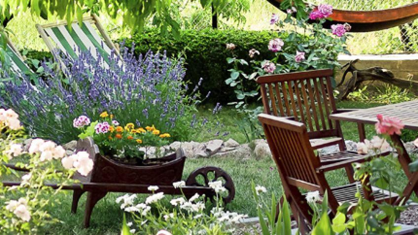 Decoraci n para exteriores terrazas balcones y jardines for Decoracion para jardines exteriores