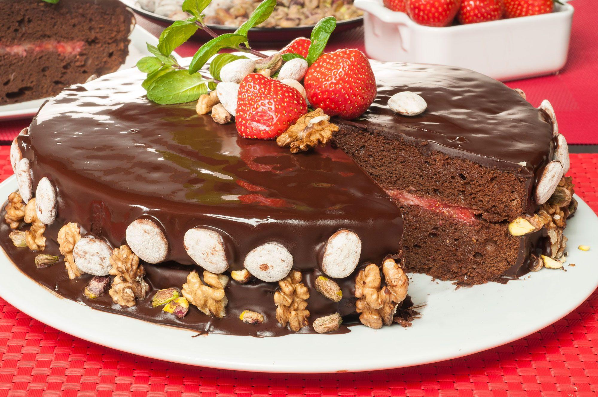 Postres, dulces y tartas para San Valentín - Tarta de chocolate