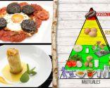 Huevos con tomate y morcilla, plato rico en proteínas