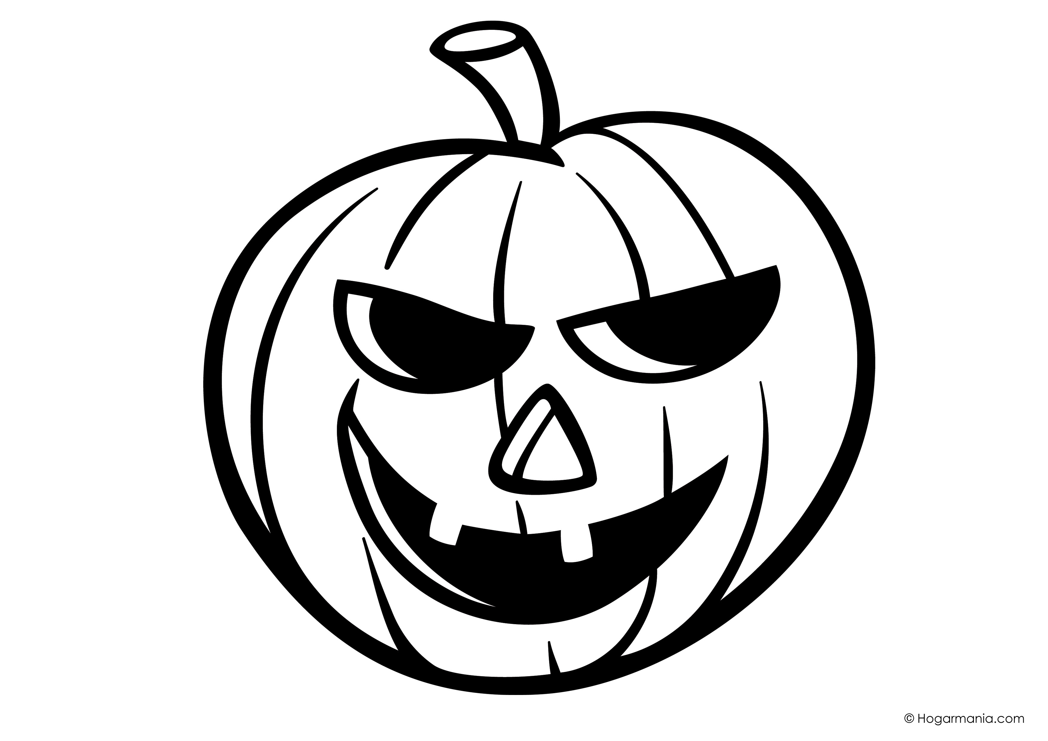 Dibujos Para Colorear De Calabazas De Halloween Para Imprimir: Dibujos De Calabazas Para Colorear