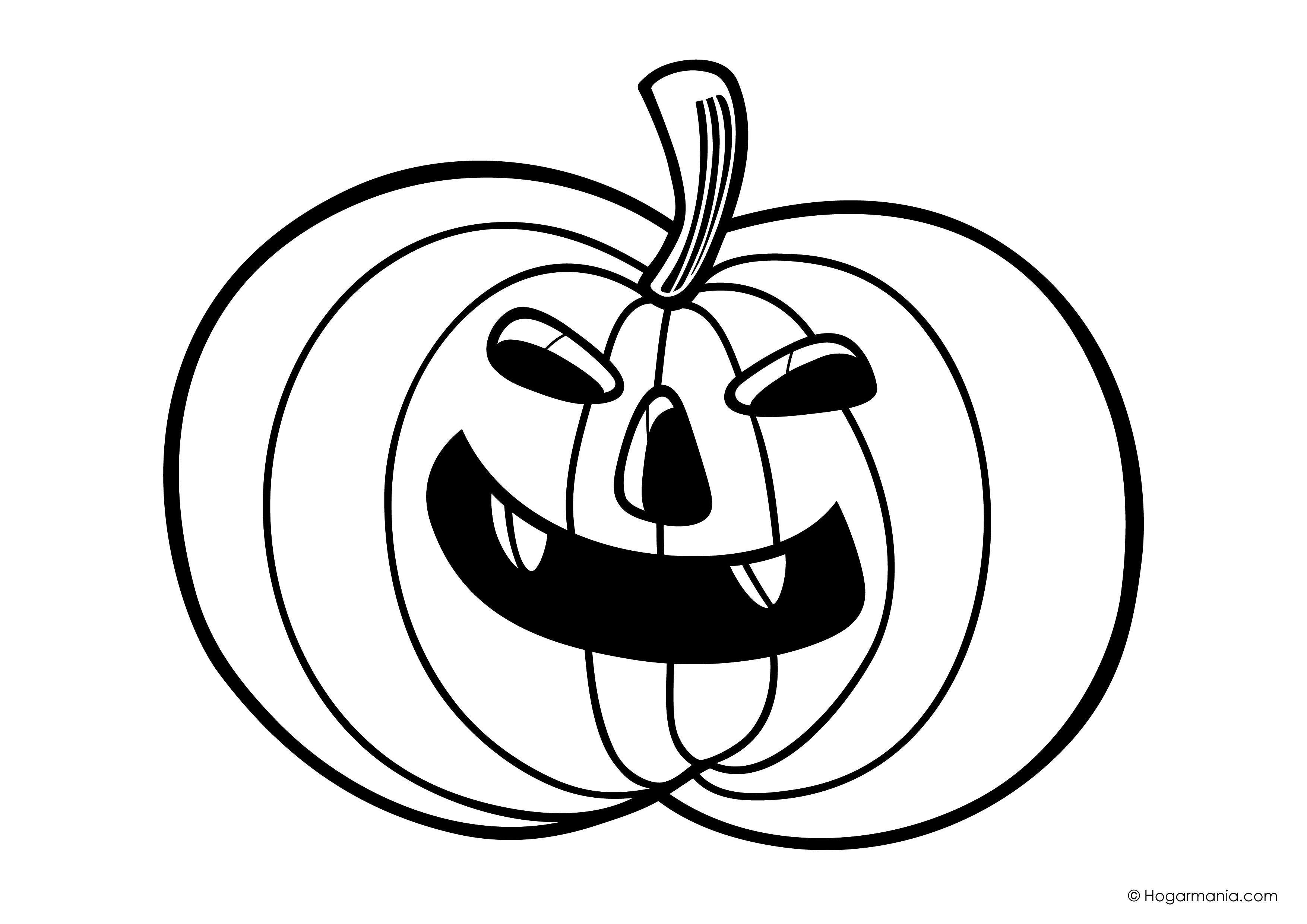 Dibujos Para Colorear De Calabazas De Halloween Para Imprimir: Calabazas Halloween Para Imprimir. Careta. Latest Dibujos
