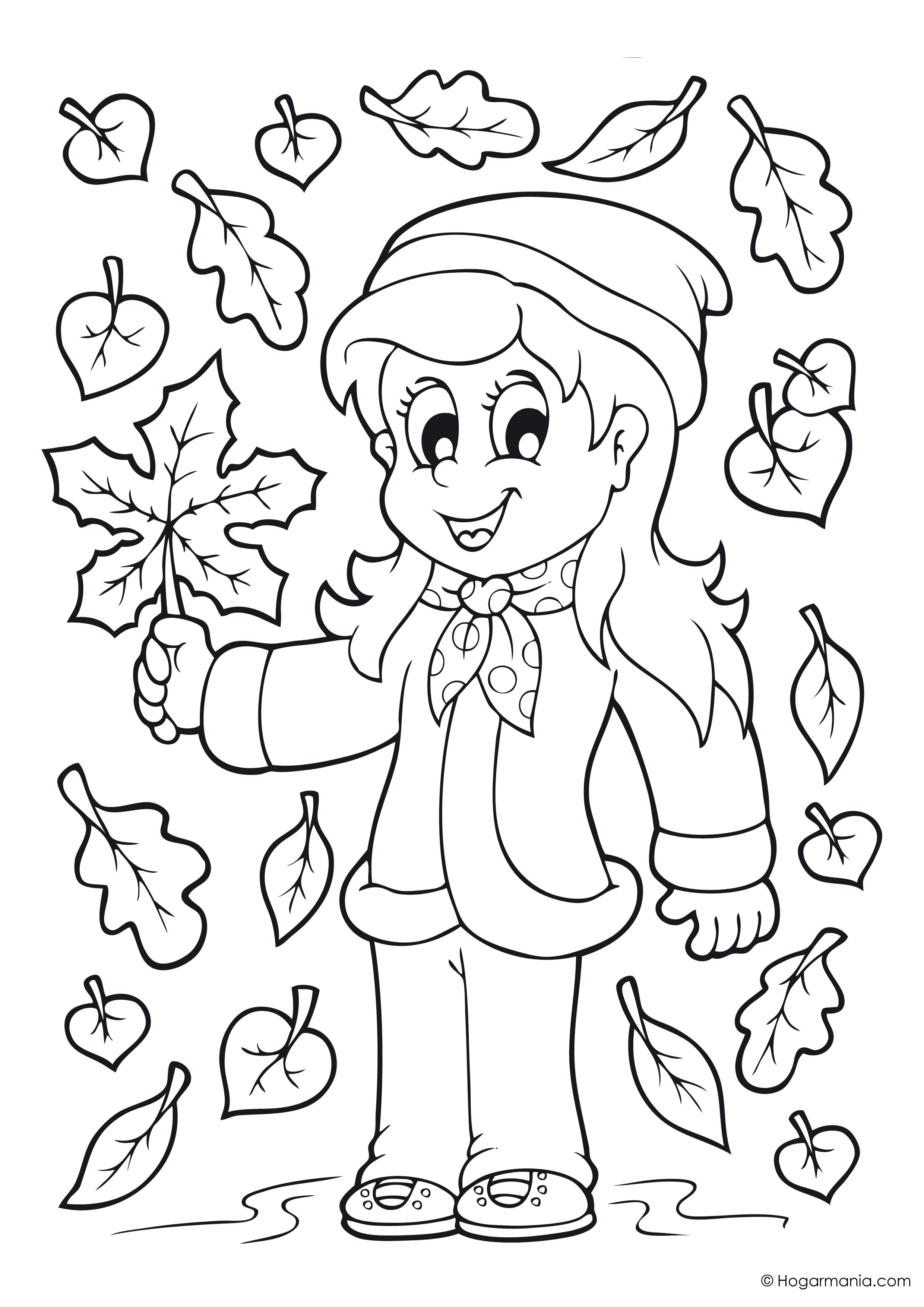 Dibujos de otoño para colorear - Búhos