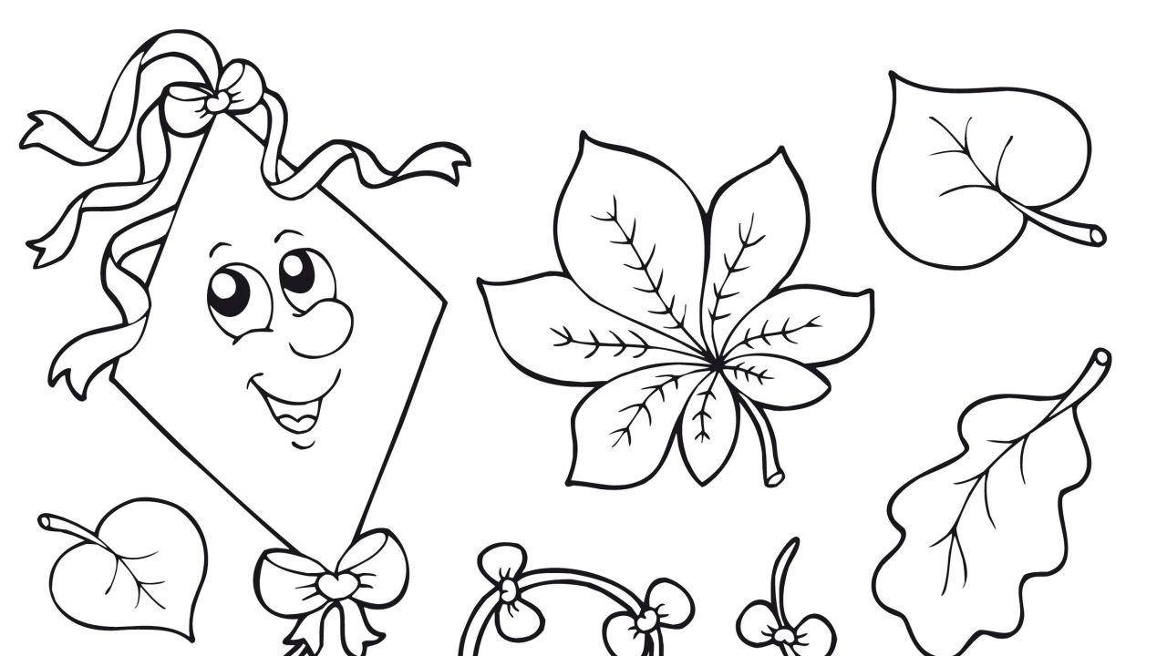 Dibujo De La Palabra Otoño Para Colorear Con Los Niños: Dibujos De Otoño Para Colorear