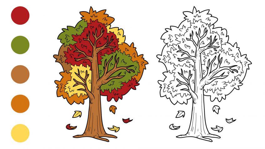 Dibujos de otoño para colorear - Hogarmania