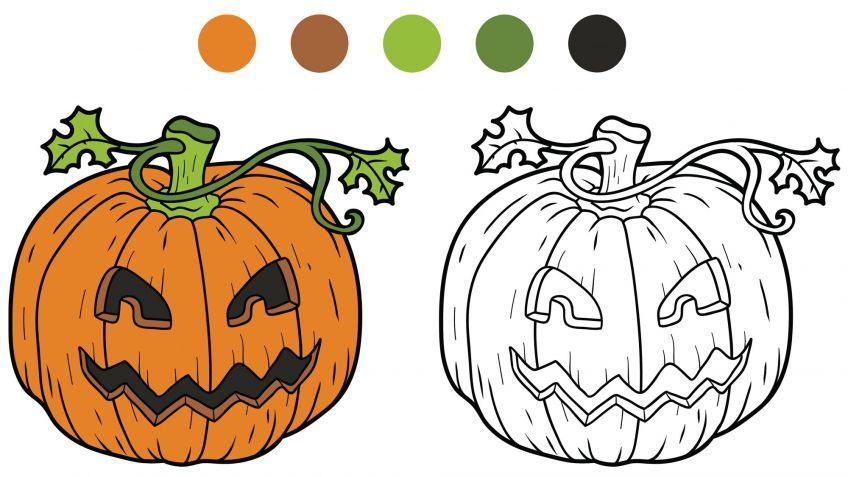 Dibujos de calabazas para colorear - Manualidades - Hogarmania
