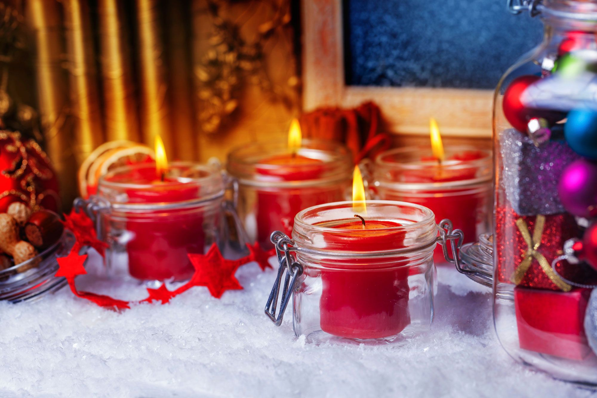 Reciclar tarros de cristal en navidad decoraci n for Frascos decorados para navidad