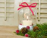 Reciclar tarros de cristal para Navidad