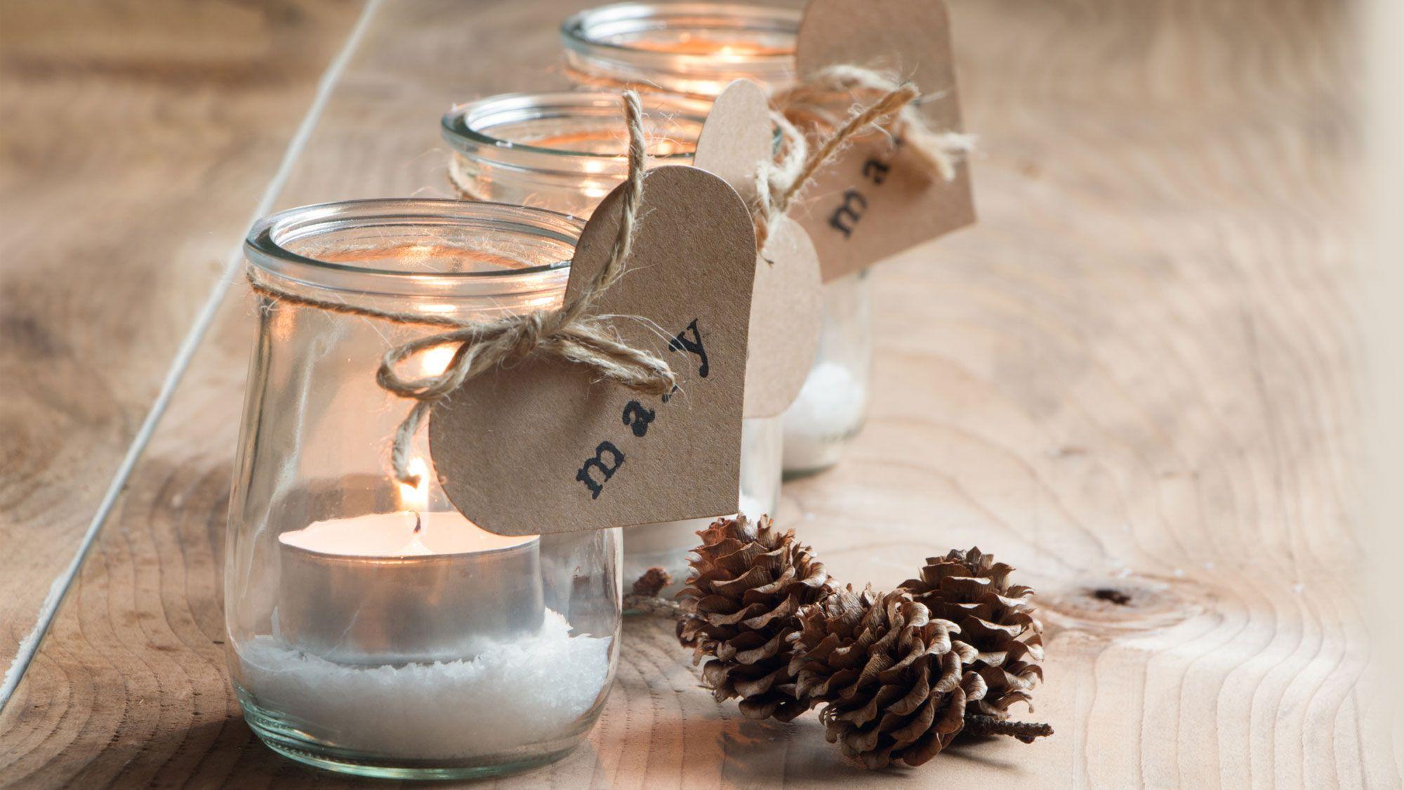 tarros cristal navidad - Botes De Cristal Decorados