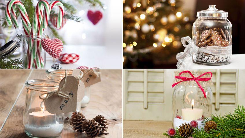 Reciclar Tarros De Cristal En Navidad Decoracion Hogarmania - Decorados-de-navidad
