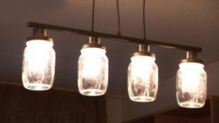 Cómo hacer lámparas con tarros de cristal - Paso 6