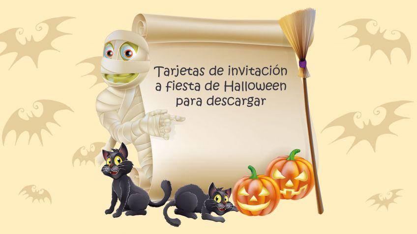 Tarjetas para una fiesta de Halloween - Hogarmania