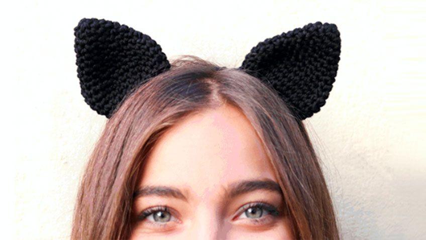 Cómo tejer diadema con orejas de gato de crochet - Hogarmania