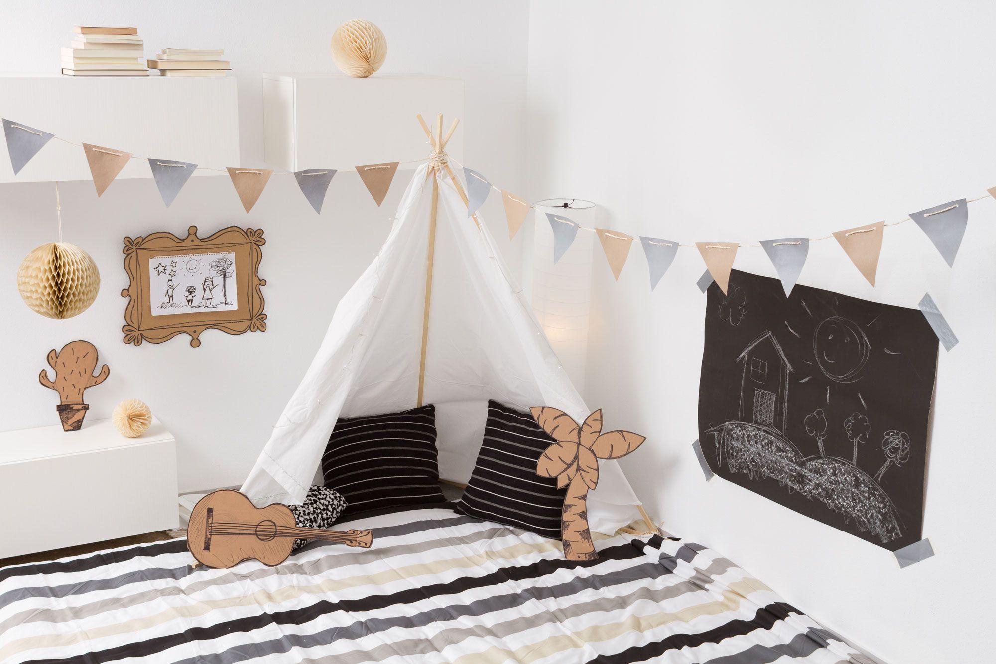 Tipis indios para decorar habitaciones infantiles