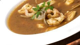 Sopa de pescado con rape