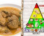Pollo al curry con arroz, para personas con colesterol