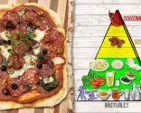 Pizza de espinacas y chorizo, plato que aporta energía