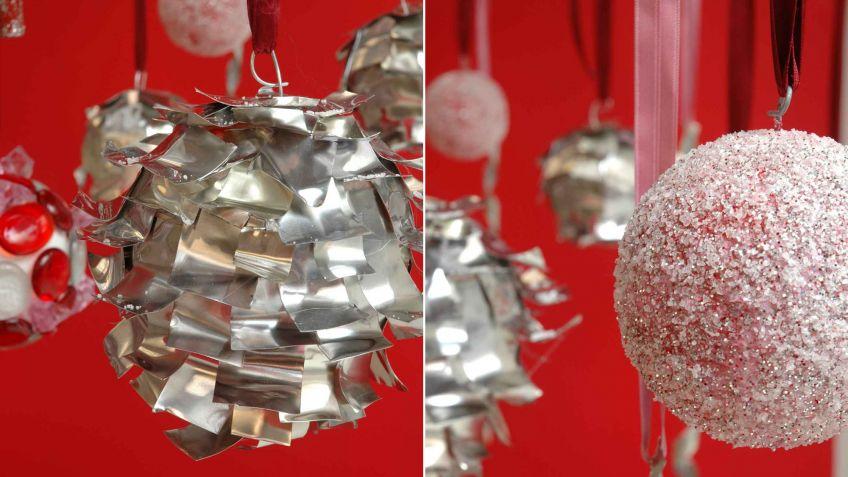 Bolas y cintas de estao para decorar el rbol de Navidad Decogarden