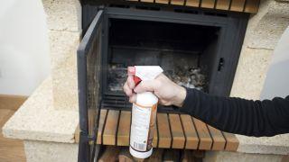 Mantenimiento de una chimenea