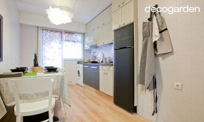 Actualizar la cocina reutilizando muebles decogarden - Cambiar puertas cocina ...
