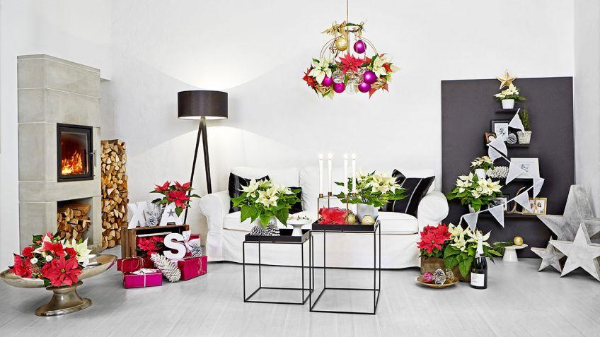 decoracin navidea para sala de estar moderna - Decoracion Moderna