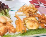 Receta de tempura de cigalas y verduras