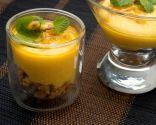 Vasitos de mango y fruta de la pasión